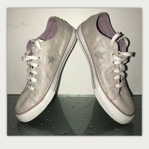 Converse Rare One Star Silver Leather Sneakers S 7